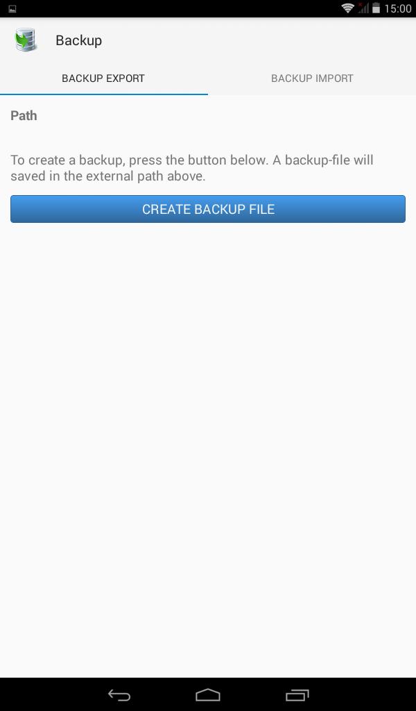 Backup Restore Export Import Excel CSV - Mesin kasir android untuk stok dan invoice