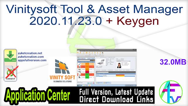 Vinitysoft Tool & Asset Manager 2020.11.23.0 + Keygen