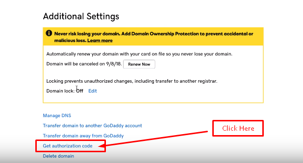 Get Your Authorization Code From GoDaddy