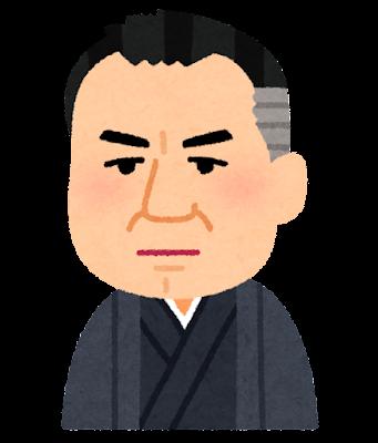 谷崎潤一郎の似顔絵イラスト