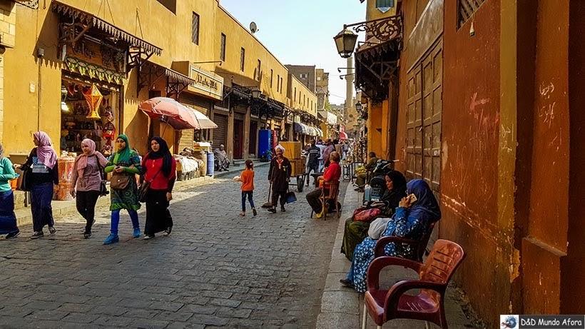 Mercado de Khan-el-Khalili no Cairo Velho - Egito