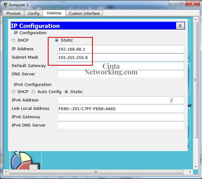 Simulasi Jaringan LAN Menggunakan Cisco Paket Tracer Dengan Mudah - Cintanetworking.com