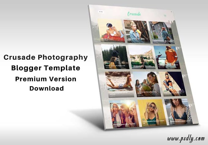 Crusade Photography Blogger Template Premium Free