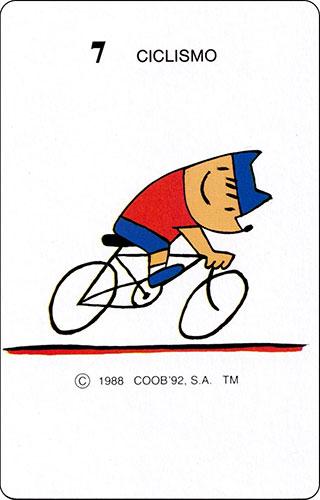Baraja Cobi Heraclio Fournier Carta 7 Ciclismo
