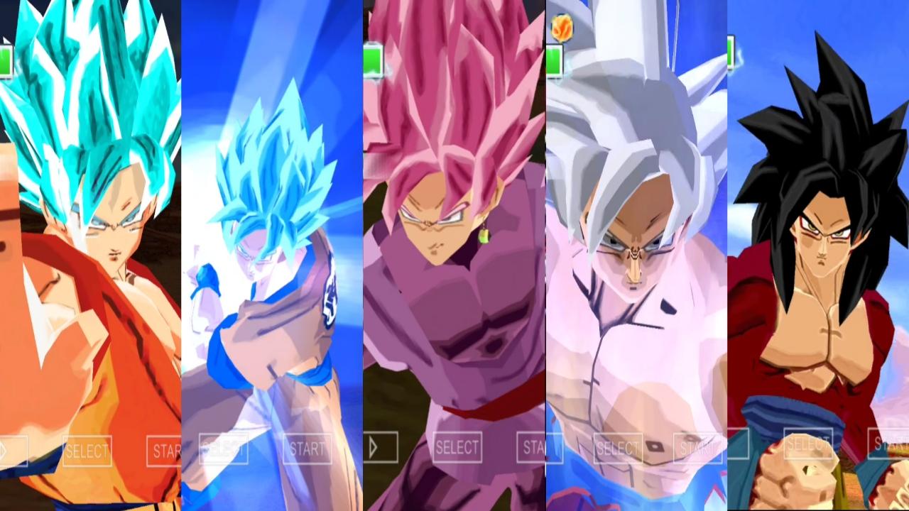 DBZ TTT Mod Goku all forms