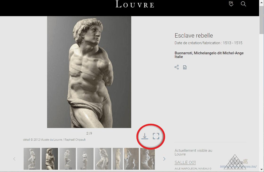 法國羅浮博物館推出收藏網站,線上瀏覽48萬件展覽品圖片並開放免費下載