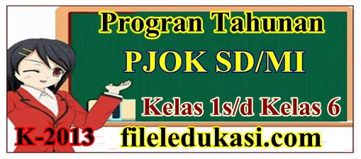 Prota Pjok Sd/Mi Kelas 1-6 Kurikulum 2013