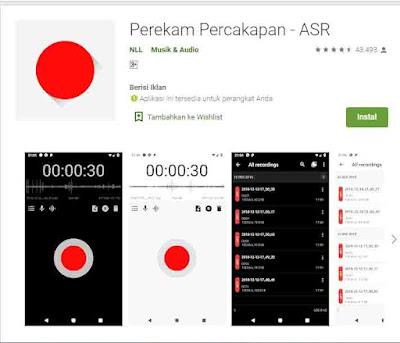 aplikasi perekam suara tanpa bising