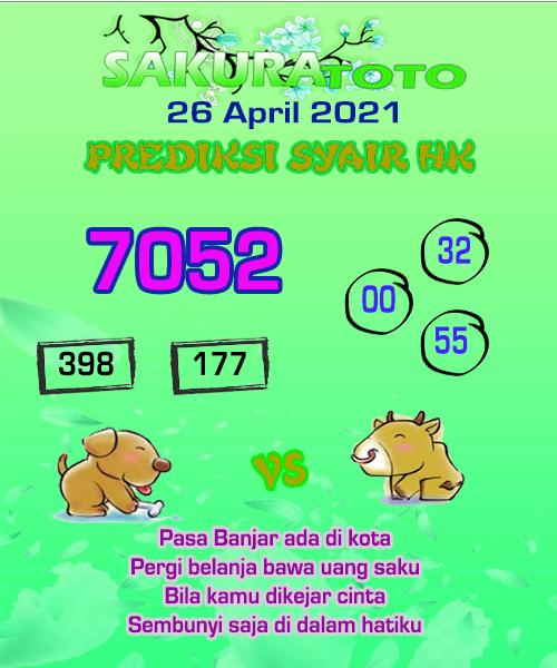 Syair HK Senin 26 April 2021 -