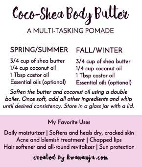 Recipe for Coco-Shea Butter