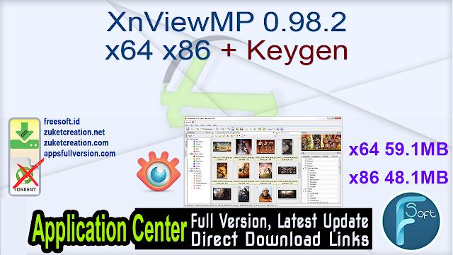 XnViewMP 0.98.2 x64 x86 + Keygen