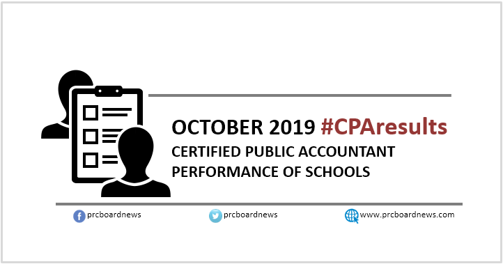 October 2019 CPA board exam result: performance of schools