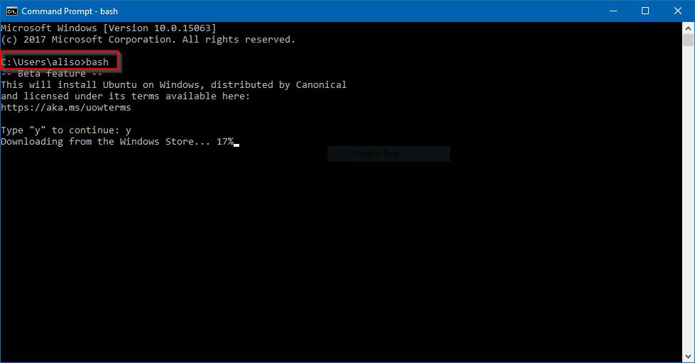 Cara Menjalankan Linux melalui Command Prompt di Windows