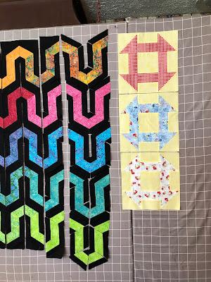 Ava's Garden quilt started