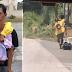 Lalaki, Nilalakad mula Bulacan hanggang Novaliches papasok sa Trabaho habang Pasan ang Asawa