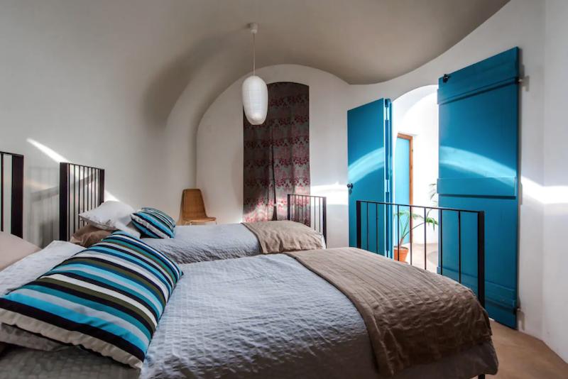 Dormitorio doble rústico