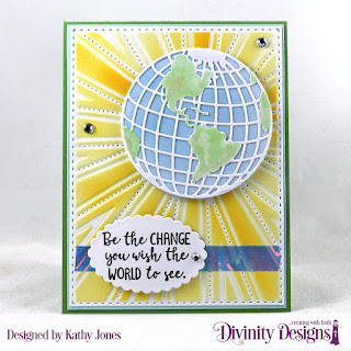 Color My World_ Custom Dies_ Globe _ Stand_ Sunburst Background_ Scalloped_ Ovals