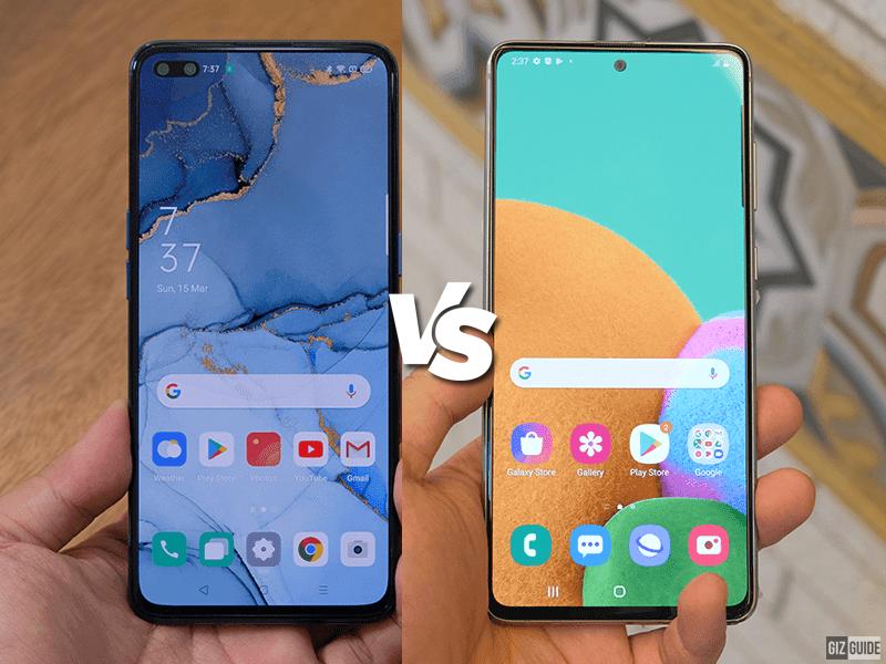 OPPO Reno3 Pro vs Samsung Galaxy Note10 Lite Specs Comparison