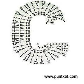 Patrón de letra G de ganchillo
