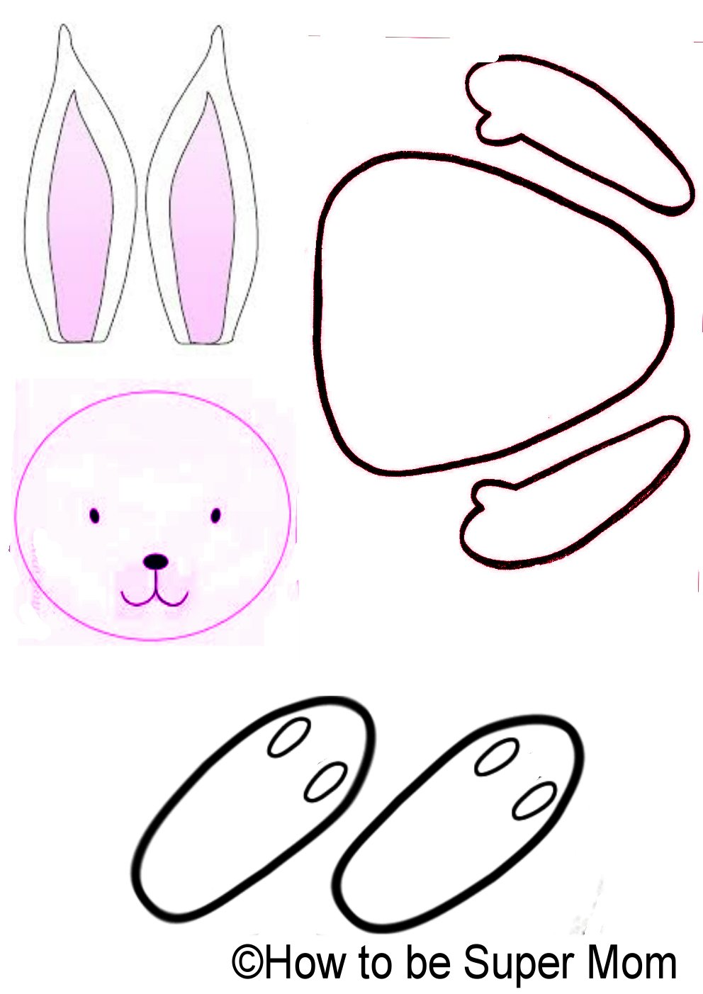 Cook N' Bake with Super Mom: Easter bunny crafts