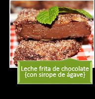 LECHE FRITA DE CHOCOLATE
