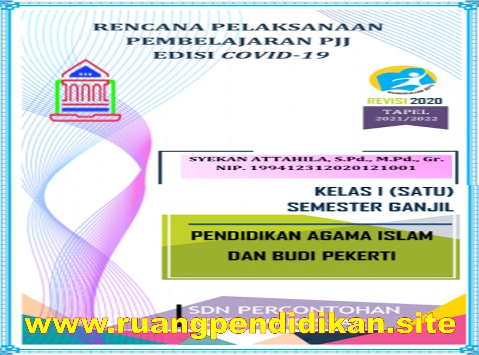 RPP Daring 1 Lembar PAI dan BP Kelas 1 SD/