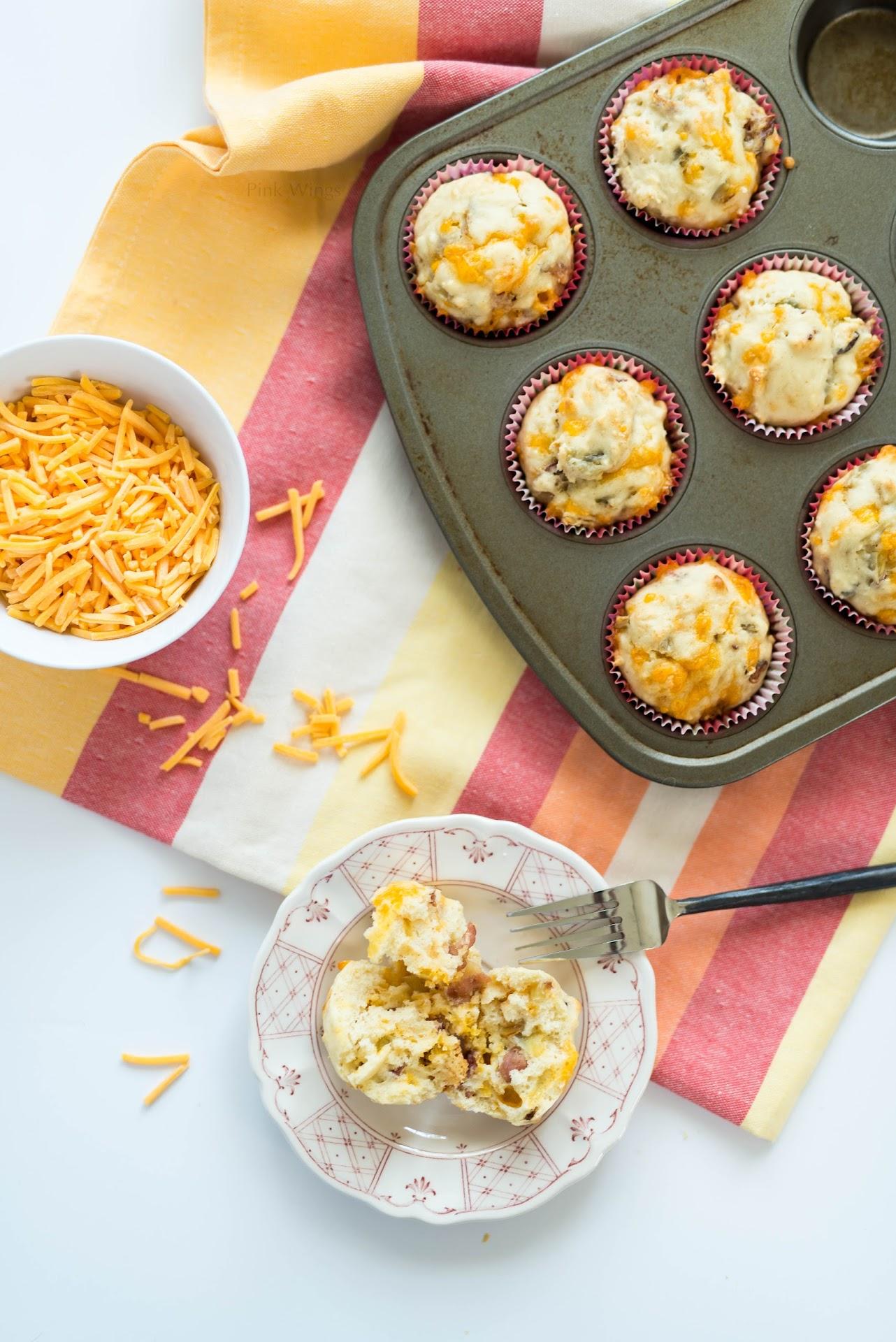 savory muffin recipe, road trip snacks, man muffins, breakfast food,