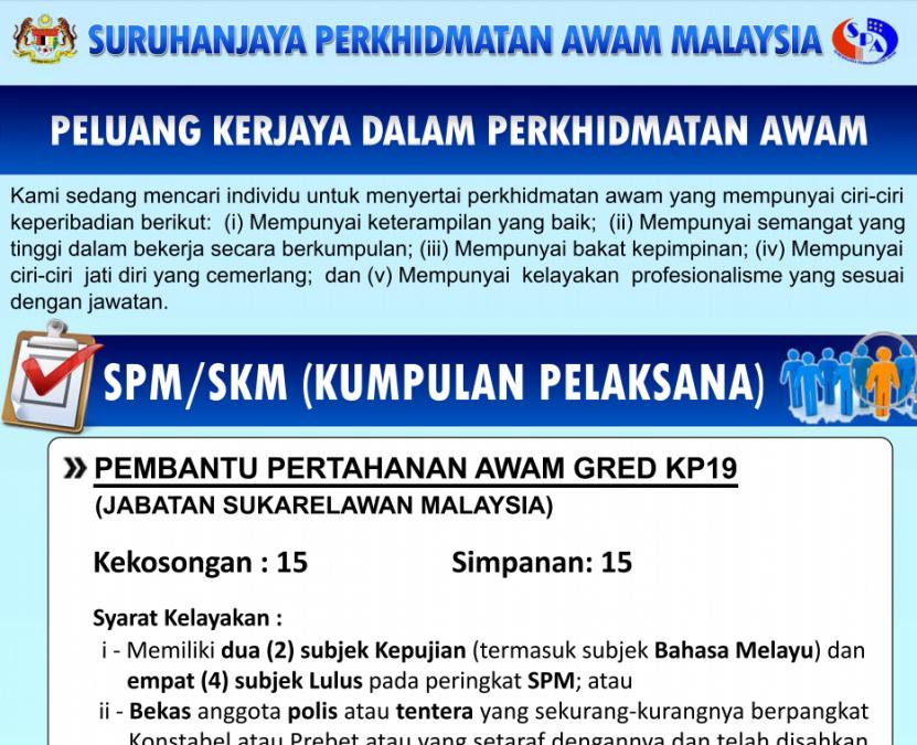 Contoh Soalan Peperiksaan Pembantu Pertahanan Awam KP19