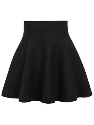 jupe taille haute noire shein