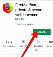 Mozilla Firefox install button Play store,Mozilla Firefox download button Playstore