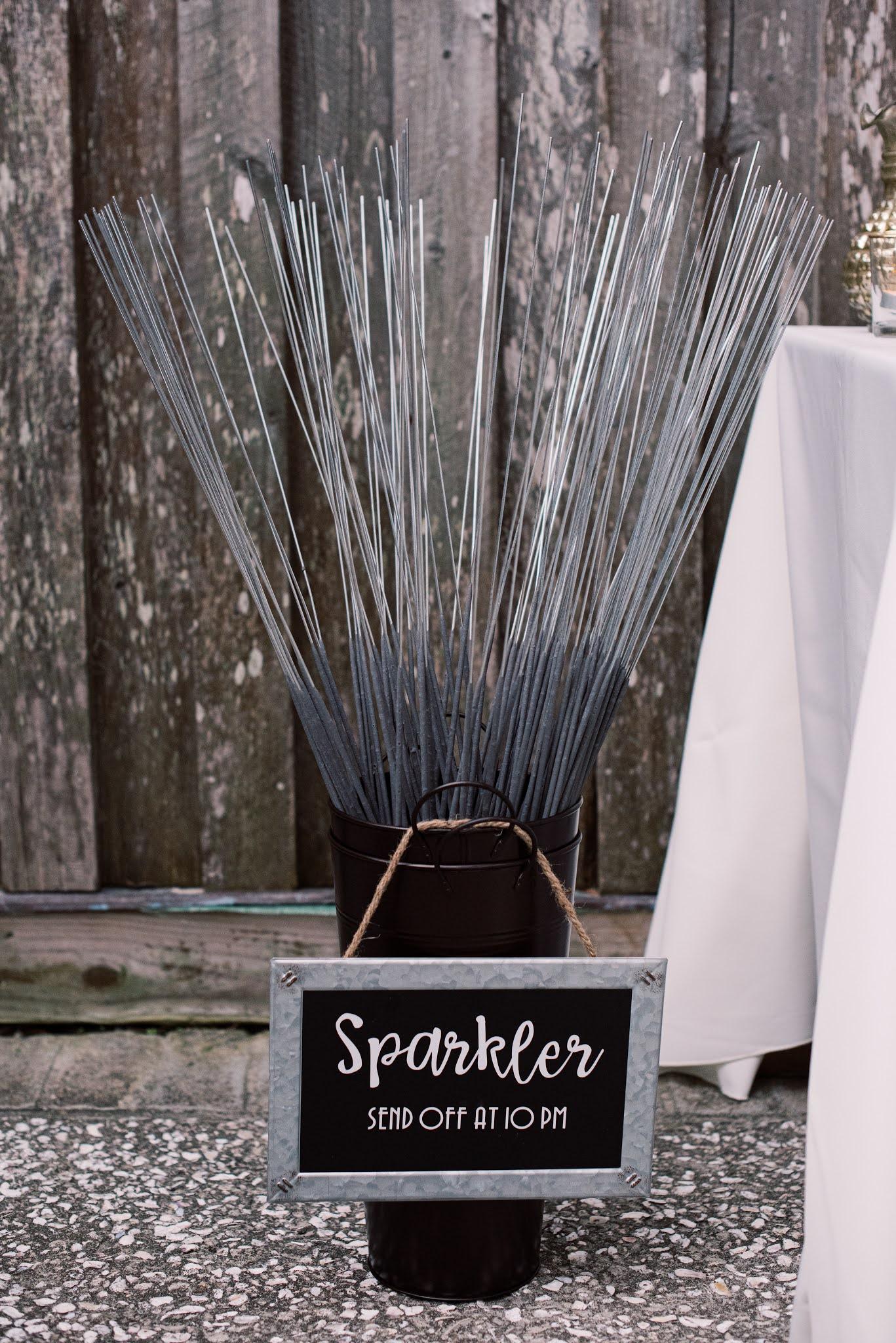 Sparkler Exit Wedding Charleston - Chasing Cinderella