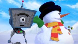 Bleep is jealous of the perfect snowman his fellow robot makes, Sesame Street Episode 4401 Telly gets Jealous season 44