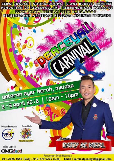 Karnival Peaceyall.fm Di Dataran Ayer Keroh Melaka