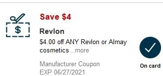 USE $4.00 off any one Revlon item item CVS crt or APP store Coupon (Select CVS Couponers)