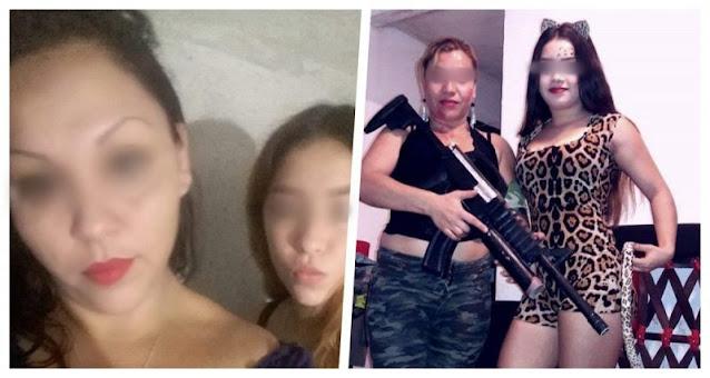 Madre e hija posan con armas largas falsas y son asesinadas en Reynosa