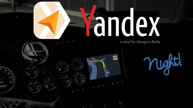 sinagrit baba ats mods, ats yandex navigator night version