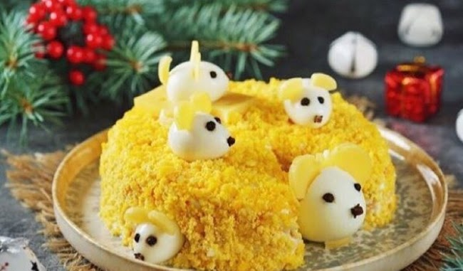 Салат....   Мишки в сирі