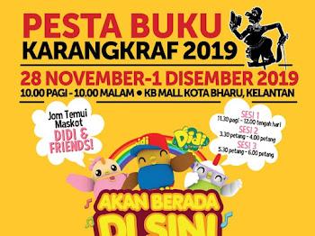Temui Maskot Didi&Friends di Pesta Buku KarangKraf di KBMALL Kota Bharu!