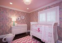 Dormitorio rosa gris bebé