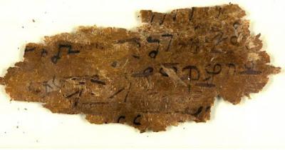 Frammento di scritti su corteccia di betulla dell'antica Gandhara.