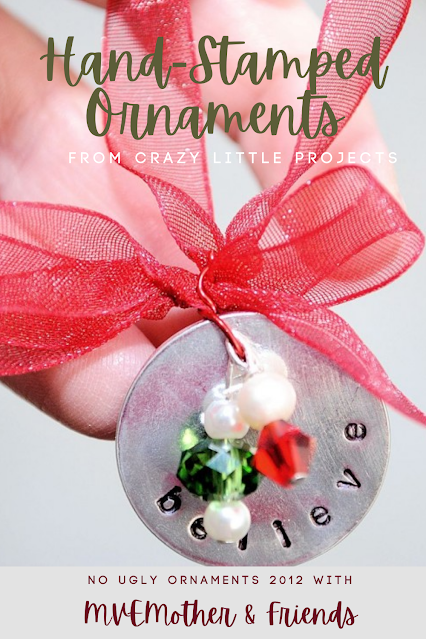 Hand Stamped Christmas Ornaments