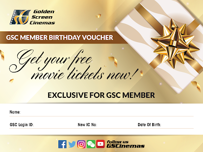GSC Cinema Free Movie Ticket Birthday Voucher Print Promo