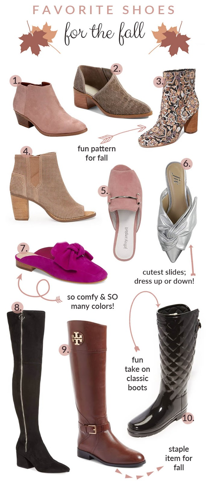 The Must Have Shoes for Fall - Boots, Booties & Mules by fashion blogger Walking in Memphis in High Heels