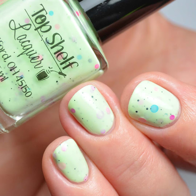 lime crelly nail polish