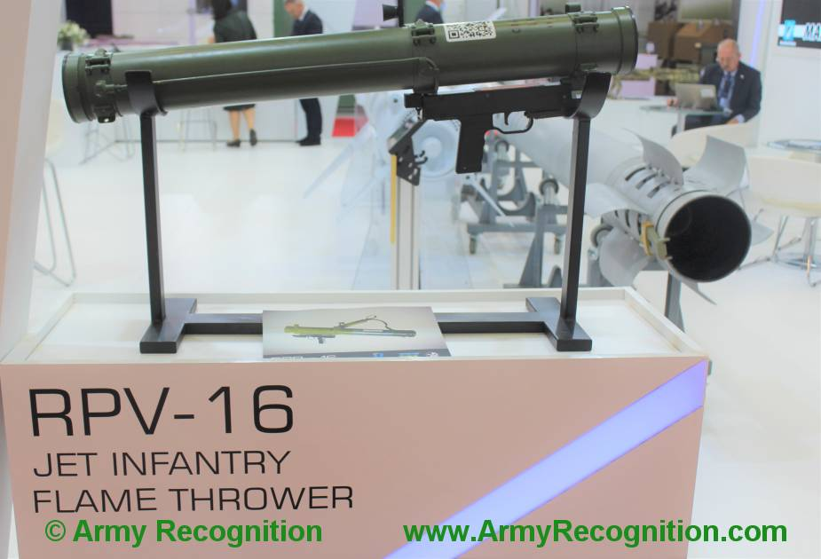 RPV-16 jet infantry flame thrower