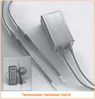 Termometer hambatan listrik - Jenis-jenis termometer