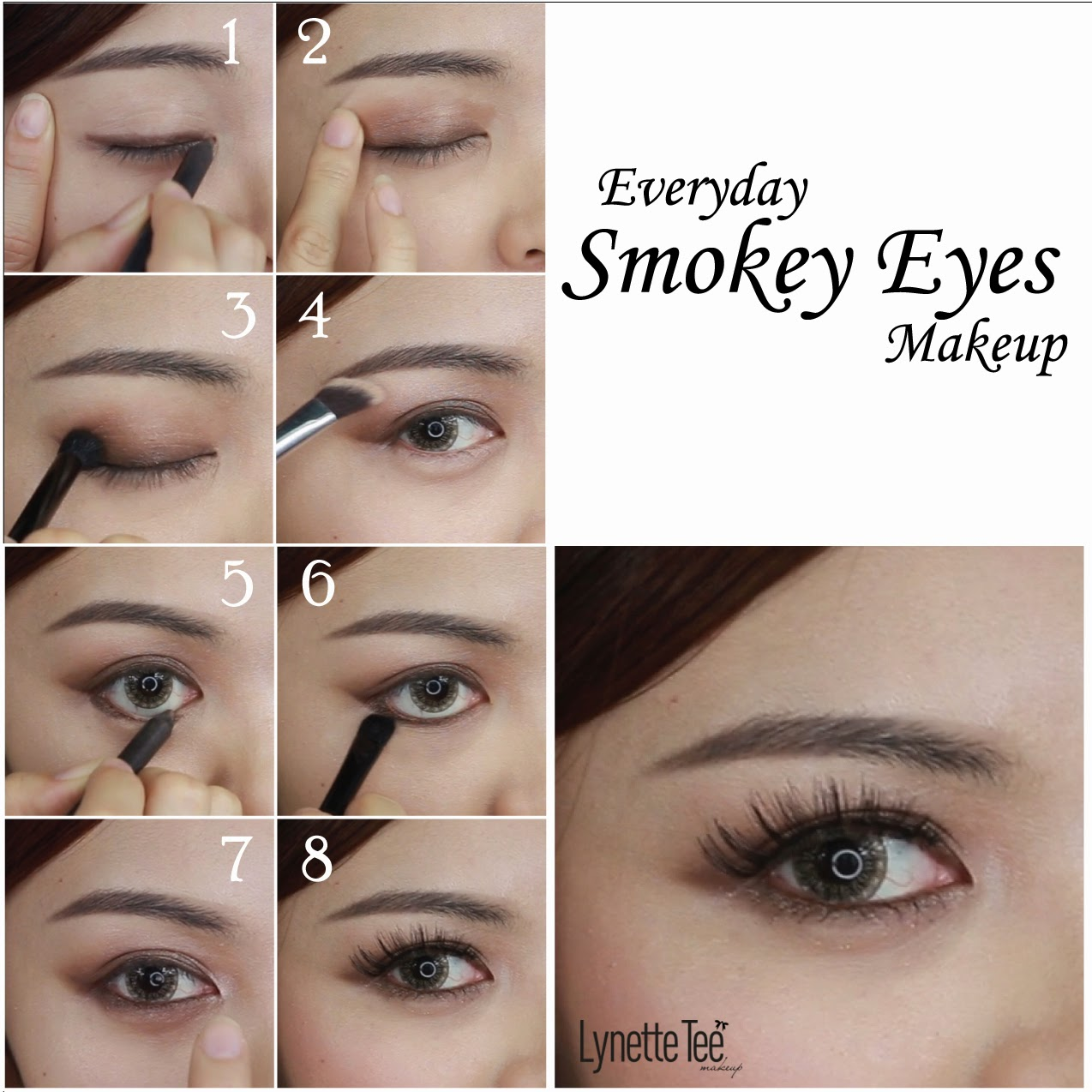 Everyday makeup tutorial for brown eyes gallery any tutorial examples everyday smokey eyes makeup lynette tee makeup beauty blog everyday smokey eyes makeup step by step baditri Image collections
