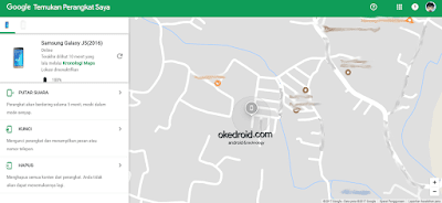 Situs Web Find My Device (Temukan Perangkat Saya)
