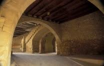 Ráfales, Ràfels, soportales, portal