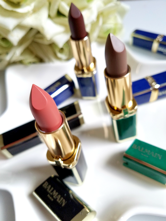 Review / Swatches: L´Oréal Paris X Balmain Couture Lipstick Collection 246 Confession - 356 Confidence - 901 Rebellion - 650 Power - 467 Freedom - 648 Glamazone madame keke
